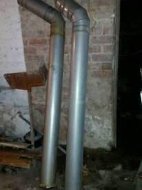 Flu pipe chimney