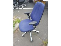 Rh logic chair with arms and 5 levels of adjustment and pump up lumbar support £95.00 each