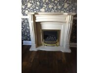 Beige Stone Fire Surround