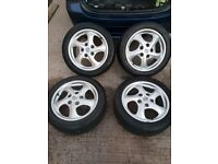 18 inch Porsche alloys with matching continental tyres 5x130 fitment