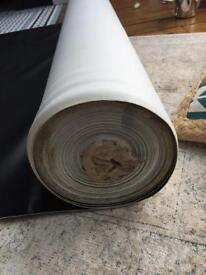 Black leatherette upholstery approx 50 meters