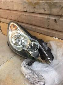 Vauxhall corsa front headlight new