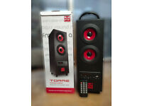 Bluetooth 5.0 Speaker Sumvision Psyc Torre Premium Portable FM Radio Bluetooth Wireless