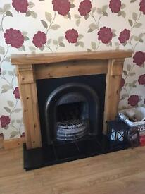 Crane Solid Oak and cast iron fireplace and surround.