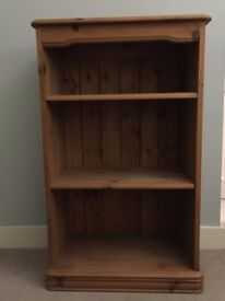 Small solid pine bookcase