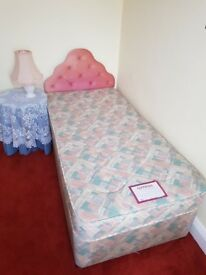 Genesis single bed with mattress