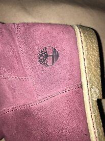 Purple timberland boots size 5.5 £20