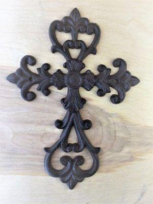 Cross large Cast Iron Wall Decor  Christian  Rustic Decorative Antique Replica