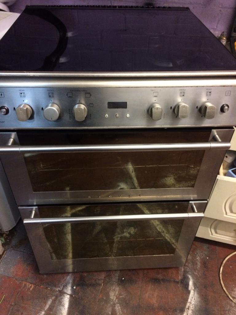 Stainless steel stoves 60cm gas cooker grill & double ovens good condition with guarantee