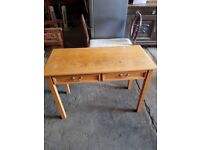 Dressing Table With 2 Drawers - Desk - Console - Bedroom - Office - Study