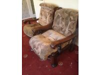 Vintage classic armchairs pair