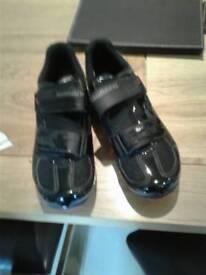 Black shimano cycling shoes