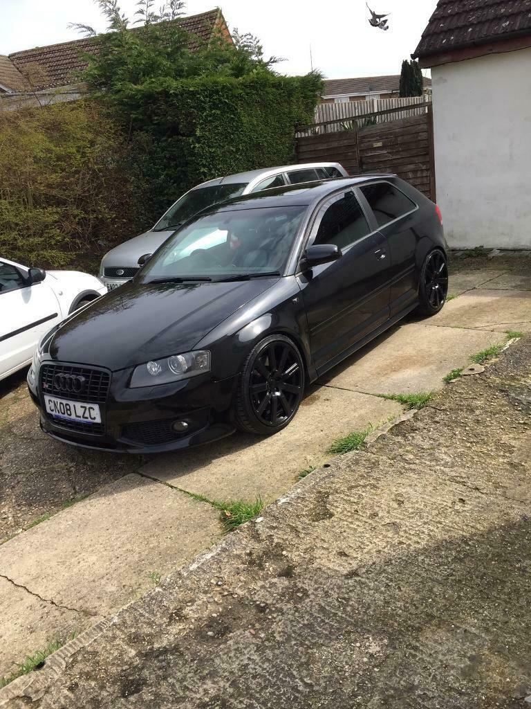 2008 Black Audi S3 Stage 2 In Great Cornard Suffolk