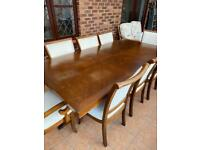 Very Large Heavy Louis dining table with 8 Chairs. £200