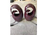 2 Next Modern Ceramic Sculpture Table Lamp in Gloss Purple £5.00