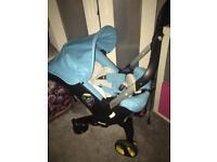 Doona stroller baby blue