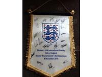 Signed england ladies u19 pendant
