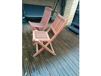 Mahogany Garden furniture Table and 6 chairs