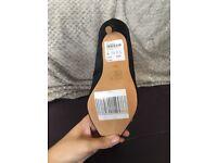 Black, velvet court shoes