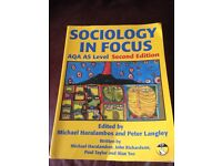SOCIOLOGY IN FOCUS AQA AS Level