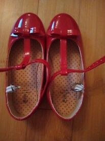 Girl's red party shoes, size - 13. Brand new.