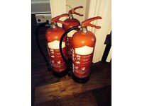 A SET of 3, 6L foam stray fire extinguishers