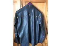 All Saints Leather Jacket - Size Large - Dark Brown
