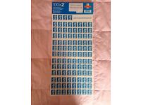 100x2ND Second Class Stamps Self-Adhesive Postage CHEAP VALUE