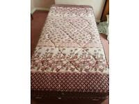 Single bed with mattress and storage