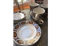 "retro-vintage 60-70's ""midwinter Staffordshire"" tea set"