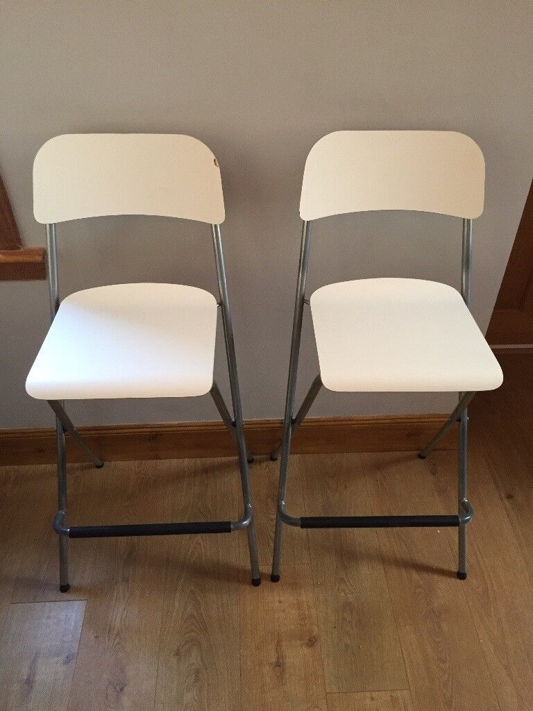 Superb 2X Ikea Franklin Bar Stool Chairs In White In Kirkcaldy Fife Unemploymentrelief Wooden Chair Designs For Living Room Unemploymentrelieforg