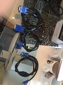 3 x pc monitor cables for sale in Cardiff.