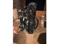 2x golf club sets right hand including bag and trolley