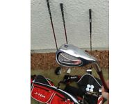 ONLY £39 for SET OF NEW MINT CONDITION JUNIOR GOLF CLUBS + GOLF BAG + FREE EXTRAS see description