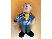 Viz comic character soft toy, Roger Melly, the Man on the Telly