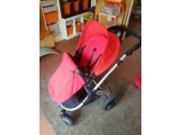 Ickle Bubba Stomp V3 COMPLETE Travel System including ISOFIX - Red