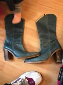 Size 5 shoes and genuine leather boots