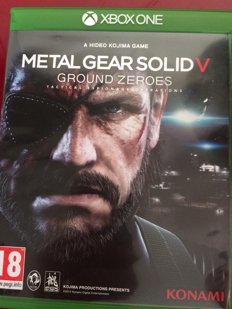 Xbox one metal gear solid