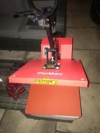 Vinyl cutter, shirt press and vinyls
