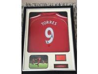 TORRES Liverpool signed shirt - framed