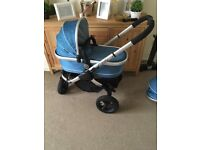 Icandy jogger pram in blue
