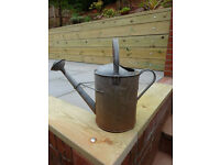Vintage 2 Gallon Galvanised Garden Watering Can