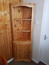 Pine corner kitchen cabinet
