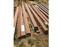 New 50 Lengths of Composite Decking 2.4m in Torino Brown 25 year guanrantee