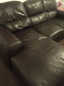 Leather Corner Sofa.