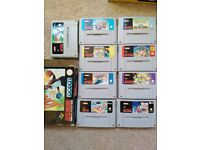 SNES (IN BOX) with 9 games