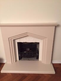 Jura stone fireplace surround