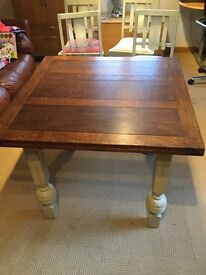 Farmhouse country style extending table and chairs