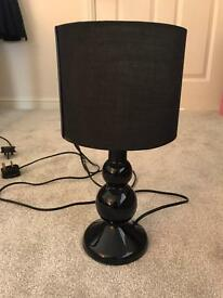Set of two black lamps