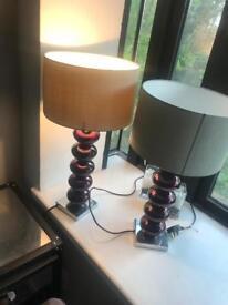 X 2 designer lamps